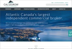 Cal Legrow website screenshot