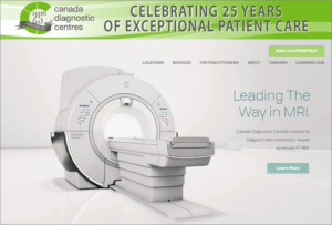 Canada Diagnostics Centres website screenshot