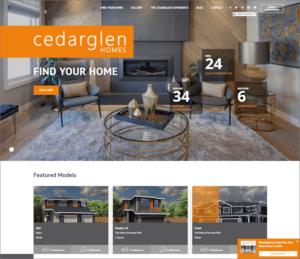 Cedarglen Homes website screenshot