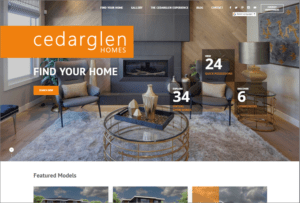 Cedarglen Homes website screenshot