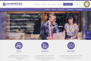 Diversified Staffing Services website screenshot