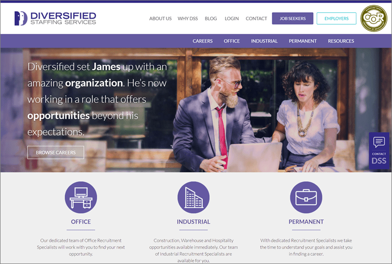 Diversified Staffing Services Website Launched