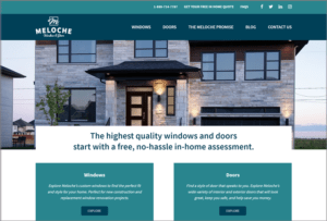 Meloche Windows and Doors website screenshot