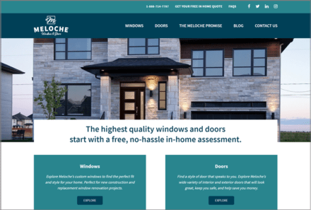 Meloche Windows and Doors Website Launched