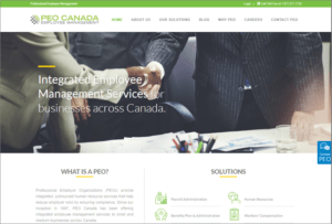 PEO Canada website screenshot