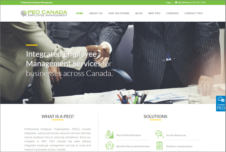 PEO Canada Website Launched