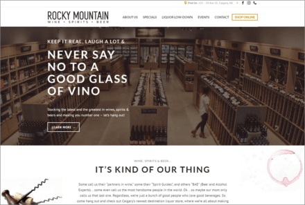 Rocky Mountain Wine, Spirits & Beer Website Launched