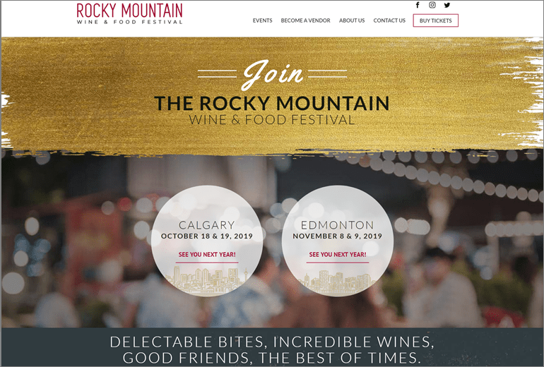 Rocky Mountain Wine and Food Festival Website Launched