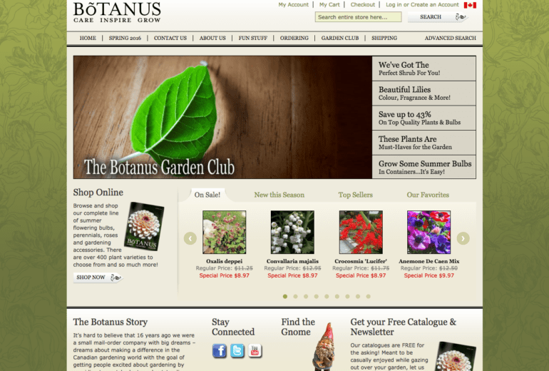 Botanus E-Commerce Website Launched!