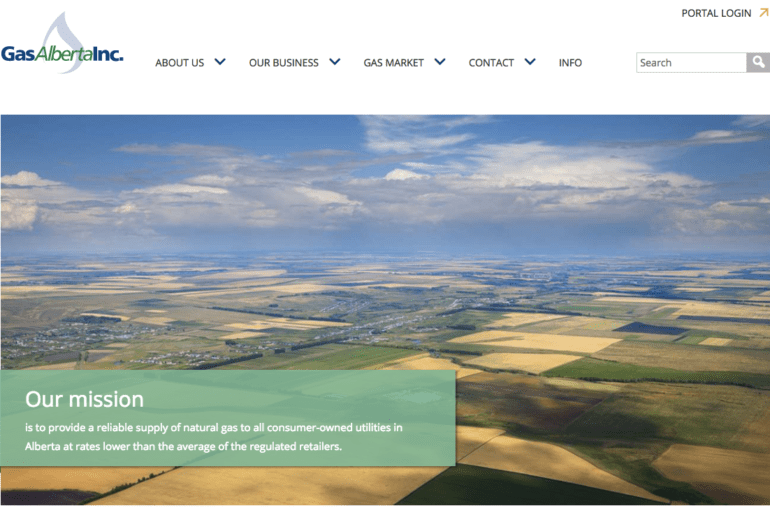 Gas Alberta Website Developed
