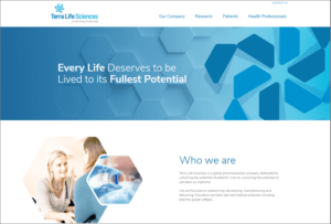 Terra Life Sciences website screenshot