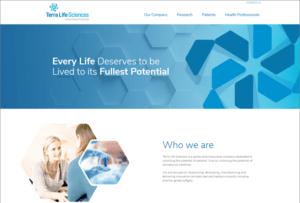 Terra Life Sciences website screenshot