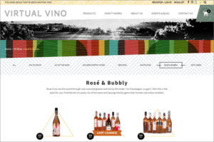 Virtual Vino website screenshot