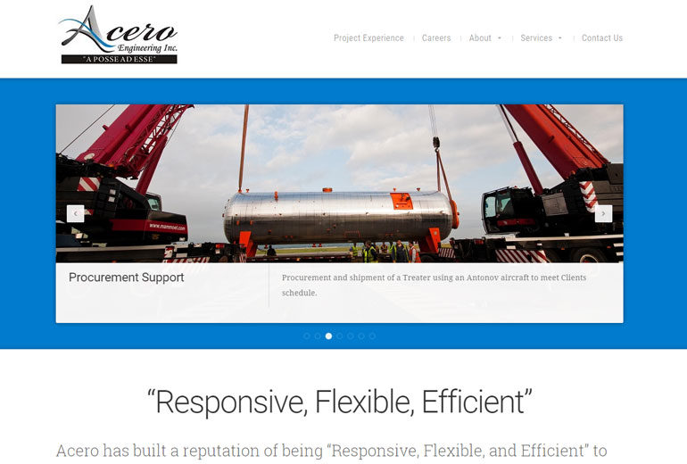 Acero Engineering Website Launched