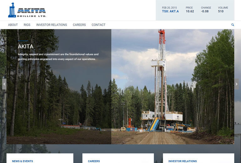 Akita Drilling website launched