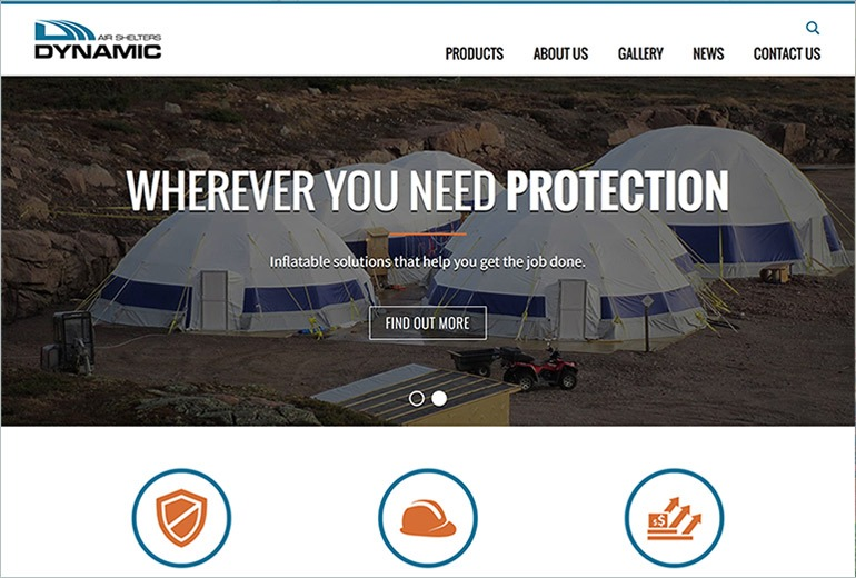 Dynamic Air Shelters Website Launched