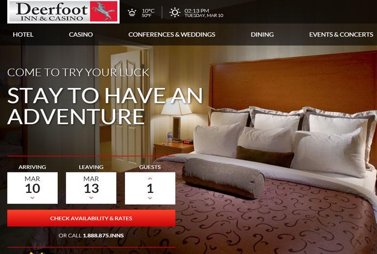 Deerfoot Inn & Casino Website Launched