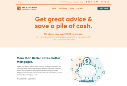 True North Mortgage Website